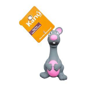 Juguete-Plastico-Raton-Gris-Kanu-para-perro
