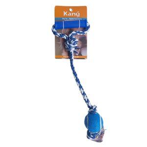 Juguete-Lazo-Bola-Para-Jalar-Azul-Kanu-para-perro