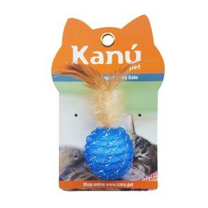 Juguete-Con-Pluma-Para-Gatos-Azul-Kanu-para-gato