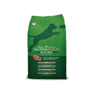 Alimento-Nutra-Gold-libre-de-granos-Pato-2.25-Kg-para-perro