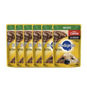 Pague-5-lleve-6-Alimento-Pedigree-Adulto-Carne-100-Gr-para-perro