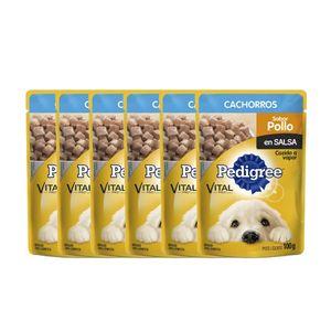 Pague-5-lleve-6-Alimento-Pedigree-Cachorro-Pollo-100-Gr-para-perro