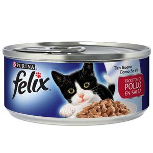 Alimento-Felix-Trocitos-Pollo-En-Salsa-156-Gr-para-gato