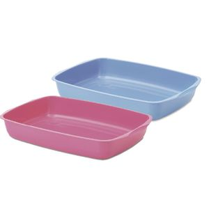Litter-Tray-38-Arenero-Sencillo-Para-Gaticos-38X27X6Cm-Color-Azul-Con-Rosada-Para-Gato