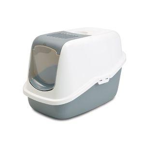 Nestor-Arenero-Con-Tapa-Y-Filtro-56X39X38.5Cm-Color-Blanco-Con-Gris-Para-Gato