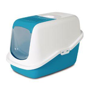 Nestor-Arenero-Con-Tapa-Y-Filtro-56X39X38.5Cm-Color-Blanco-Con-Azul-Para-Gato