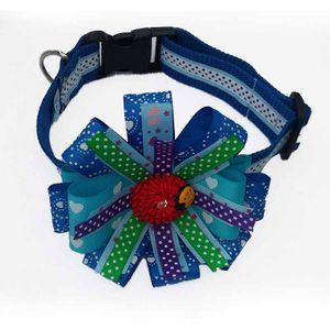 Collar-Azul-De-Lujo-Talla-M-Para-Perro