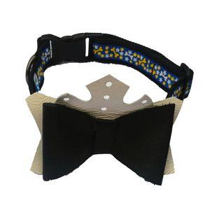 Collar-Negro-De-Lujo-Talla-M-Para-Perro