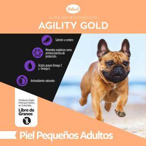 Alimento-para-perro---Agility-Gold-Pequeños-adultos-Piel--1.5-KG