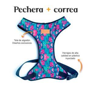 Pechera-y-Correa-Floral-Fedele-Para-Perro-M