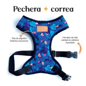 Pechera-y-Correa-Hawaiano-Fedele-Para-Perro-XS