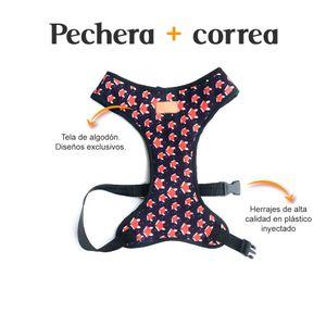 Pechera-y-Correa-Zorros-Fedele-Para-Perro-M