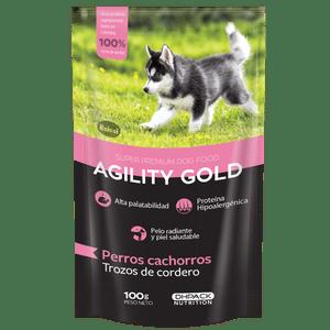 Alimento-para-perro---Agility-Trozos-De-Cordero-Para-Cachorro-100-Gr