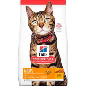 Alimento-para-gato--Hills-Felino-Adulto-Light-4-LB