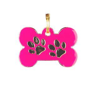 Medalla-Fucsia-Huellas-Ref-10-Para-Perro---Mediana