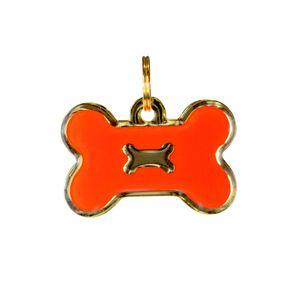 Medalla--Hueso-Naranja-Ref-9-Para-Perro
