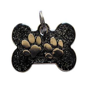Medalla-Hueso-Negro-Huellas-Ref-11-Para-Perro