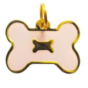 Medalla-Hueso-Borde-Dorado-Ref-16-Para-Perro