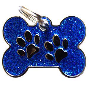 Medalla-Huellas-Azul-Ref-32-Para-Perro-