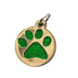 Medalla-Huella-Verde-Ref-33-Para-Perro