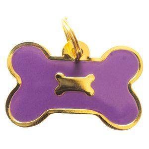 Medalla-Hueso-Borde-Dorado-Ref-37-Para-Perro