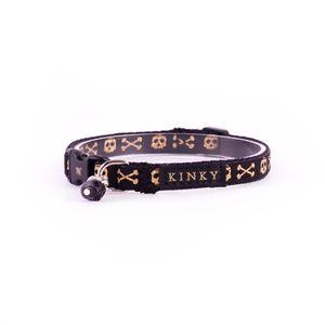 Kinky-Collar-Mini-Negro-Calaveras-Gold