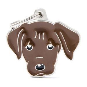 Medalla-Labrador-Chocolate-Para-Perro