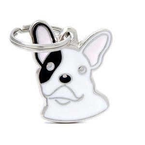 Medalla-Bulldog-Frances-Blanco-Para-Perro