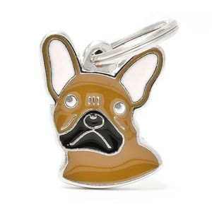 Medalla-Bulldog-Frances-Cafe-Para-Perro