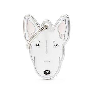 Medalla-Bullterrier-Blanco-Para-Perro-Nueva-Imagen