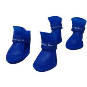Zapato-De-Lluvia-Azul-Para-Perro