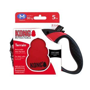 Correa-Kong-Retractil-Roja-Para-Perro-M